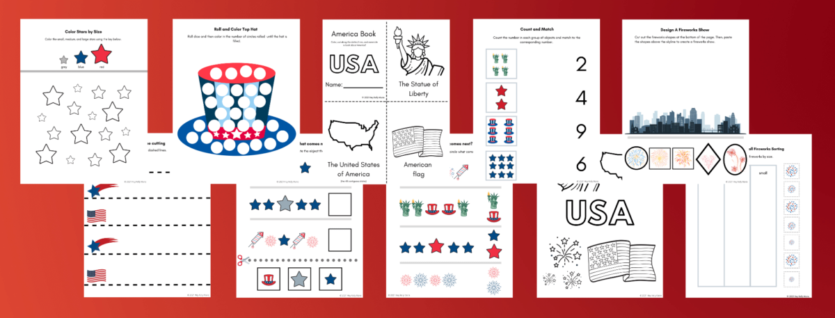 preview of america preschool activity pages