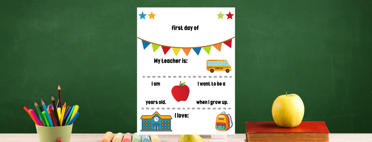preview of first day of school sign