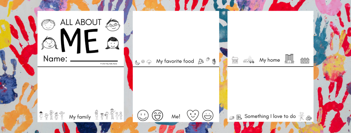 all about me printable book for kids