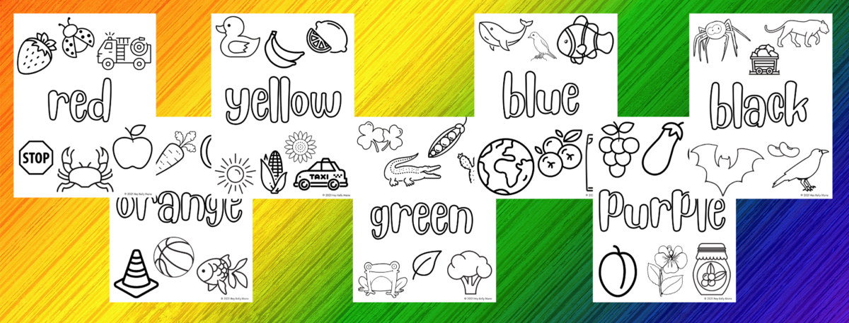color theme coloring pages for preschool kids. preview